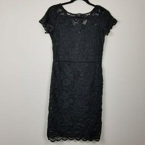 Ambiance black lace bodycon dress